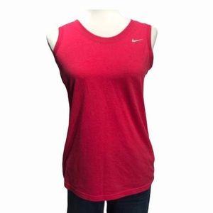 Nike Dri-Fit Sleeveless Top Pink Medium